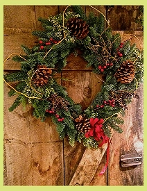 Fresh Holiday Wreath<br> (Available in Square or Round)