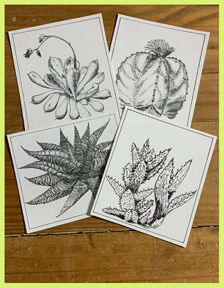 Pen & Ink Art Cards