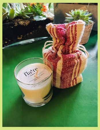 Flair Scented Candle in Cloth Bag